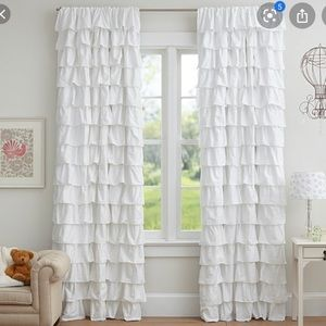 Pottery Barn Kids Blackout Ruffle Curtain Panel